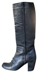Dolce Vita Round Toe Knee High Piping black Boots