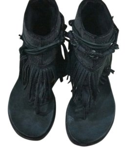 Free People Fringe Sandals black Flats
