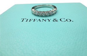Tiffany & Co. Tiffany & Co. Platinum .56ct Diamond Shared Setting Ring Band Size 5 $5825