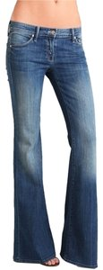 Mother Vintage Low-rise Denim Flare Leg Jeans-Medium Wash