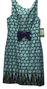 Lilly Pulitzer short dress Turquoise with navy and green pattern on Tradesy