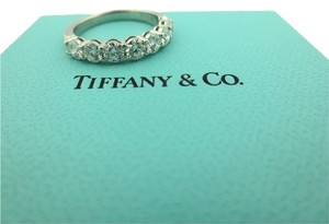 Tiffany & Co. TIFFANY & CO PLATINUM SHARED SETTING .91CT DIAMOND 3.5MM BAND RING Size 5