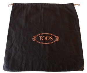 Tod's Dust Cover Dust Storage Brown with Orange Logo Travel Bag