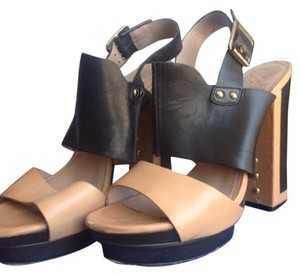 Vince Camuto Blank and tan Platforms