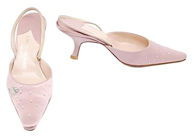 Pink W/Silver Lilac Satin Slingback Heels W/Embroidery + Rhinestones - 37/Us Pumps Size US 7 Regular (M, B) Pink W/Silver Lilac Satin Slingback Heels W/Embroidery + Rhinestones - 37/Us Pumps Size US 7 Regular (M, B) Image 1