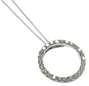 Roberto Coin Roberto Coin 2.00 Carat tw Diamonds & 18k White Gold Circle Pendant Necklace