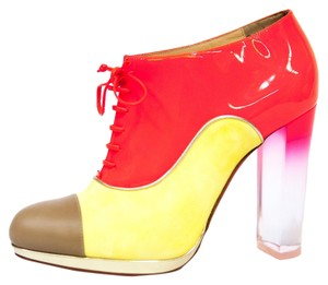 Christian Louboutin Color-blocking Chunky Fall Multi-Color Boots