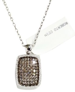 Roberto Coin ROBERTO COIN 18 K White Gold & Mocha Diamonds Locket Pendant