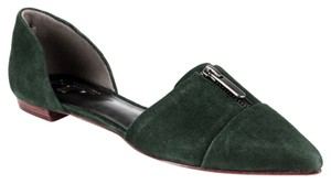 Belle by Sigerson Morrison Flat D'orsay Suede Dark Green Flats