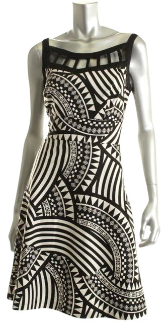 Donna Ricco short dress Black/White on Tradesy
