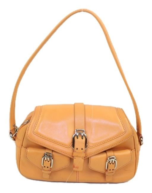 Item - Chsl01 Orange Leather Baguette