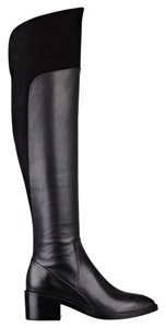 Sigerson Morrison Over-the-knee Thigh High Suede Leather Black Boots
