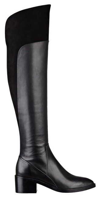 Sigerson Morrison Black Suede/Leather Over The Knee Boots/Booties Size US 10 Regular (M, B) Sigerson Morrison Black Suede/Leather Over The Knee Boots/Booties Size US 10 Regular (M, B) Image 1