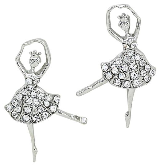Preload https://img-static.tradesy.com/item/7064299/clear-crystal-silverrhodium-cute-plated-rhinestone-ballerina-earrings-0-1-540-540.jpg