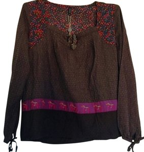 B-Young Top Brown/multi