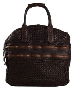 Bruno Magli Dark Brown Travel Bag