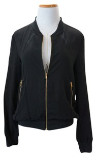 W118 by Walter Baker Mesh Paneled Jacket Top Black/Gold