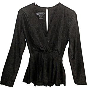 Kardashian Kollection Pleated Top Black