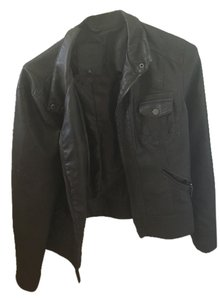 Max Jeans Chocolate Brown Leather Jacket