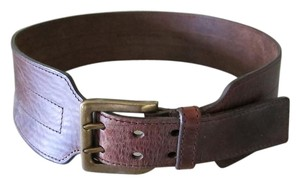 Dark Brown Wide Leather Belt