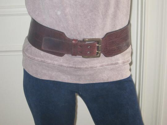 Other Dark Brown Wide Leather Belt