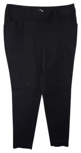 H&M Straight Pants Black