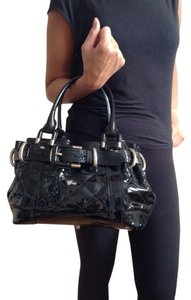 Burberry Patent Leather Satchel in Black