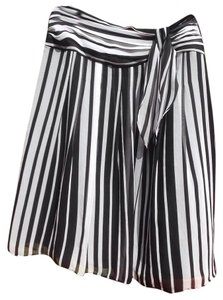 Ann Taylor Skirt Black and white stripped