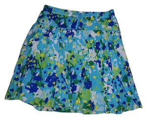 Old Navy Skirt Multi Greens/Blues
