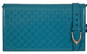 Gucci Crossbody Purse Teal Messenger Bag