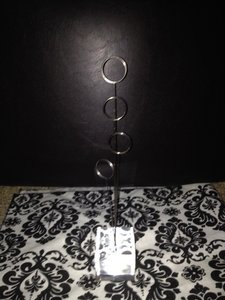 Michaels Silver Table Number Holders And Cards