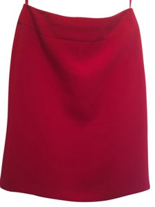 Isabella DeMarco Classic Pencil Chic Skirt Red