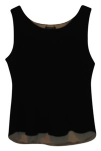 Liz Claiborne Reversible Top Reversable Black and Tan