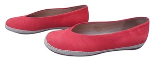 Eileen Fisher Rope Trim Red Flats