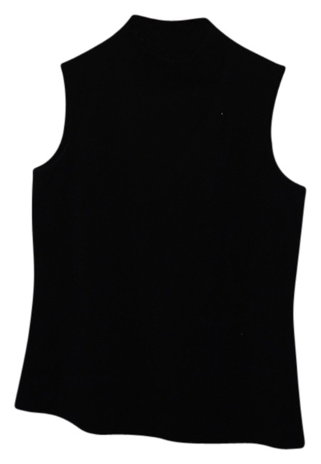 Liz Claiborne High Neck Shirt Sleeveless Top Black