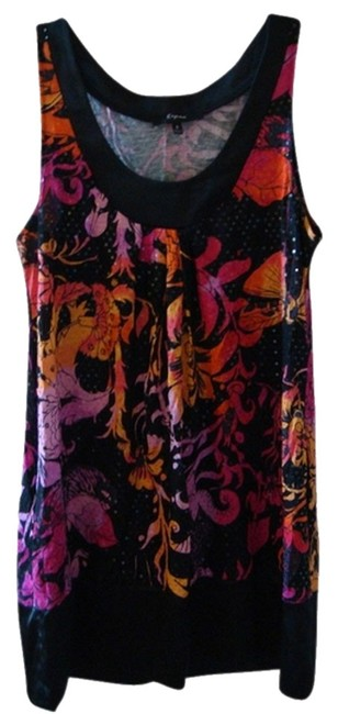Preload https://item2.tradesy.com/images/express-black-pink-orange-fun-mini-or-tunic-short-night-out-dress-size-4-s-706736-0-0.jpg?width=400&height=650
