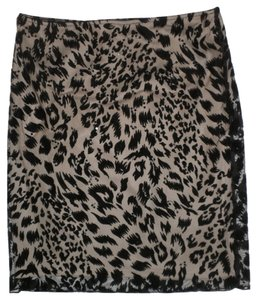 Laundry by Shelli Segal Sheer Skirt Cheetah
