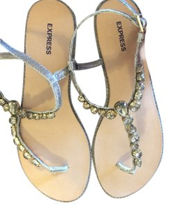 Express gold metallic Sandals