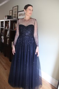 Reem Acra Navy Blue Dress