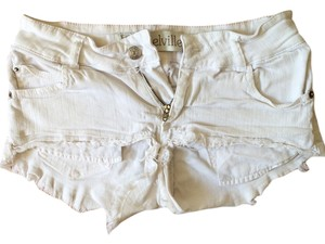 Brandy Melville Cutoff Cut Off Shorts white