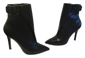 Pour La Victoire Black all leather stiletto heels ankle Boots