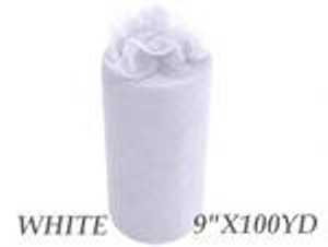 White Tulle: 20 Rolls 9in X 100 Yards Each Reception Decoration