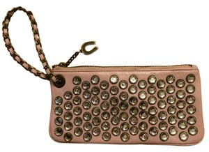 Betsey Johnson Rhinestone Chain Studded Pink Clutch