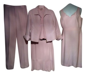 Casual Corner Light Pink Suit Set: skirt-jacket-pants-dress-blouse