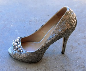 Valentino Sequin Pearl Wedding Shoes