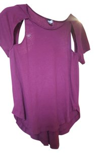 Free People T Shirt Burgundy
