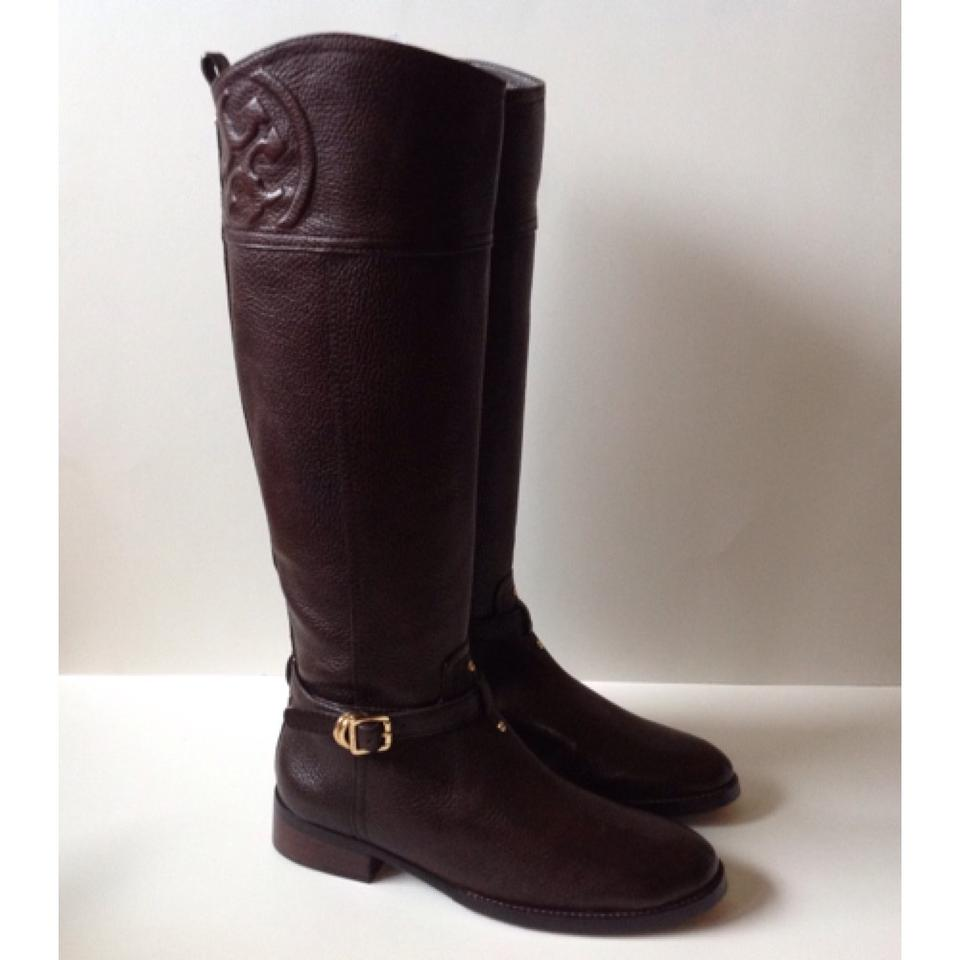 c90d37dac093 Tory Burch Chocolate Brown Marlene Riding (With Dustbag) Boots Booties Size  US 8 Regular (M