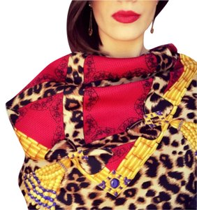 Carlisle Carlisle Leopards and Lace Square Silk Scarf