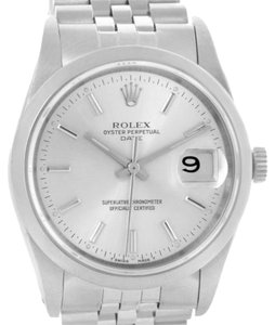 Rolex Rolex Date Stainless Steel Silver Dial Mens Watch 15200