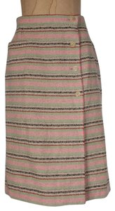 Chanel Striped Vintage Wrap Skirt multicolor